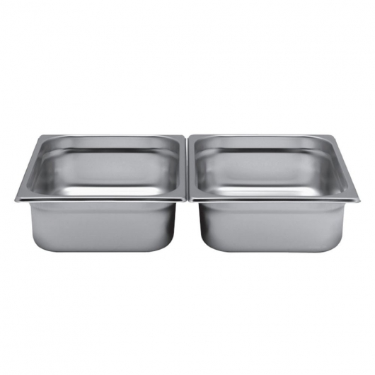 Bac gastro inox AISI 304 gamme GN 1/2 fond perforé