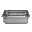 Bac gastro inox AISI 304 gamme GN 2/3 fond perforé