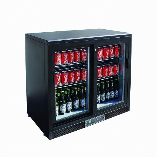 L2G - Arrière bar réfrigéré portes vitrées coulissantes - 2 ou 3 Portes