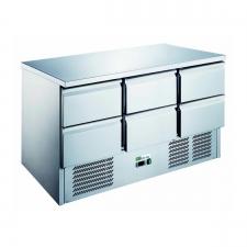 Saladette réfrigérée porte avec tiroirs - Personnalisation compartiments