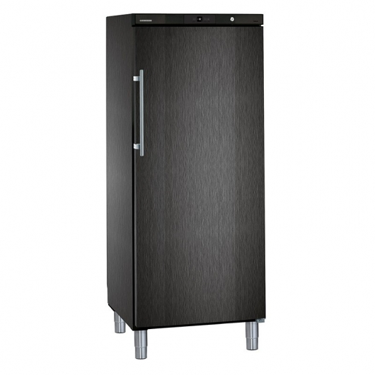 LIEBHERR - Armoire froide négative, cuve ABS, finition BLACKSTEEL, 478L - GGVB5060